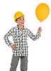Little smiling builder in helmet | Stock Foto