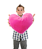 Photo 300 DPI: boy gives heart