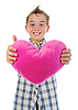 Boy gives heart | Stock Foto