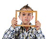 ID 3021975   Little boy with frame in his hands   High resolution stock photo   CLIPARTO