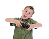 ID 3021976 | Funny boy with joystick | High resolution stock photo | CLIPARTO