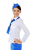 Attractive young stewardess | Stock Foto