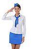 Attractive stewardess | Stock Foto