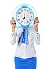 Stewardess z zegarem | Stock Foto