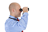Businessman looking through binoculars | Stock Foto