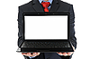 Businessman holding laptop | Stock Foto
