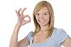 ID 3022062 | Kobieta pokazano OK | Foto stockowe wysokiej rozdzielczości | KLIPARTO