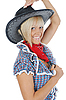 Young beautiful cowgirl | Stock Foto