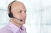 Man with headset  | Stock Foto