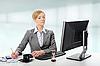 Piękne blond businesswoman | Stock Foto