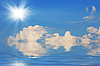 Solar sky over water | Stock Foto