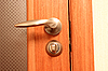 Door and handle | Stock Foto