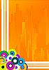 동그라미와 노란색 추상적 인 배경   Stock Vector Graphics