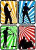 Vector clipart: rock band