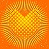 Corazón amarillo | Ilustración vectorial