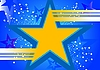 Vector clipart: blue background with yellow star