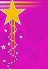 Векторный клипарт: розовый фон со звездами