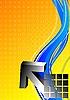 Vector clipart: Black 3d arrow