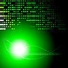 녹색과 검은 색 추상적 인 배경 | Stock Vector Graphics