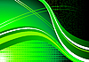 Vector clipart: abstract green waves