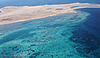 Sandy coast and the azure sea | Stock Foto