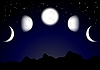 Vector clipart: Moon phases
