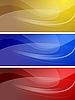 Vector clipart: Set of wavy banners