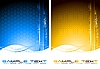 Vector clipart: Two abstract tech banners