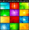 Vector clipart: Set of bright abstract backgrounds