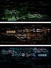 Vector clipart: Dark tech banners