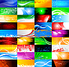 36 abstract banners collection | Stock Vector Graphics