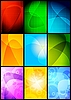 Vector clipart: Simple abstract backgrounds