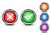 Vector clipart: Check mark buttons
