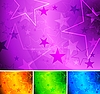 Vector clipart: Vibrant star backgrounds