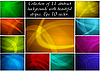 Vector clipart: Abstract backgrounds collection