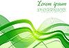 Vektor Cliparts: abstrakte grüne Wellen