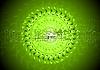 Vector clipart: green stylish high-tech backdrop