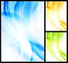 Set of bright wavy backgrounds
