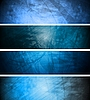 Blue textural banners | Stock Vector Graphics