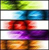 Векторный клипарт: Яркие баннеры