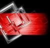 Векторный клипарт: темный красный фон с квадратами
