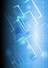 Векторный клипарт: синий технический дизайн