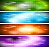 Vibrant banners collection | Stock Vector Graphics