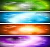 Vibrant kolekcji banery | Stock Vector Graphics
