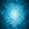 Blauer Tech-Hintergrund | Stock Vektrografik