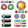 Vector clipart: Buttons collection
