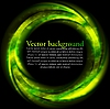 Vector clipart: Green bright circle on black backdrop