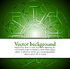 Vector clipart: Green tech background