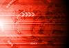Векторный клипарт: Темно-красный технический фон