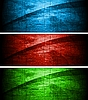Colourful textural banners | Stock Vector Graphics